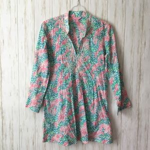 lilly pulitzer • Beaded Sarasota Pink Floral Tunic